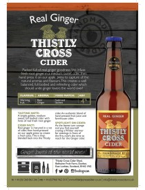 Thistly Cross Ginger Cider